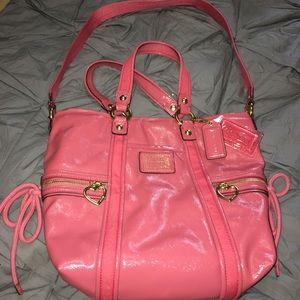 Coach Daisy Liquid Gloss Poppy Patent Leather